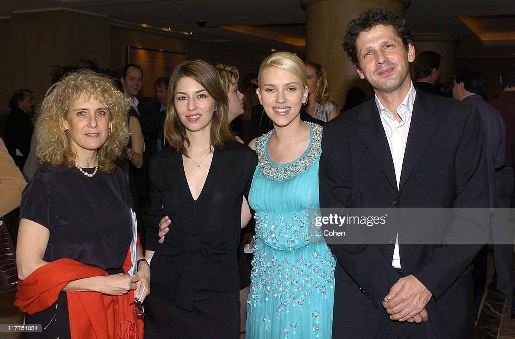 Jean Oppenheimer, President of the LAFCA, Sofia Coppola, Scarlett Johansson, and Peter Webber, Director of 'Girl With a Pearl Earring'