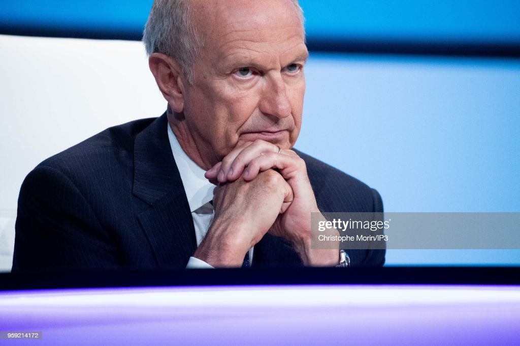 Jean Paul Agon, Member of the Board of Directors of AirLiquide, attends the Groups Annual General Meeting in the presence of shareholders on May 16, 2018 in Paris, France. The French industrial group specializing in industrial gases reported this week an acceleration in its growth beyond analysts expectations.
