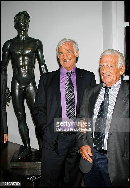Jean Paul Belmondo and brother Alain Belmondo at Official Opening Of The Paul Belmondo Museum In BoulogneBillancourt