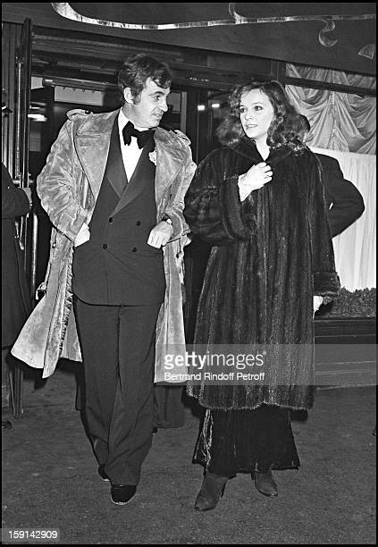 Jean Paul Belmondo and his companion Laura Antonelli leave Maxim's restaurant in Paris after New Year's Eve