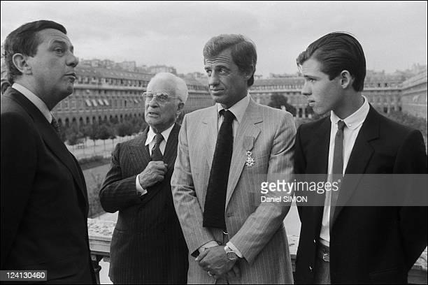 Jean Paul Belmondo and his parents in Paris France on September 23 1980 Paul Belmondo JeanPaul Belmondo and Paul Belmondo