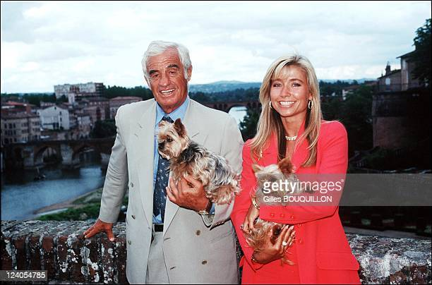 Jean Paul Belmondo and Natty In Toulouse France On June 271997