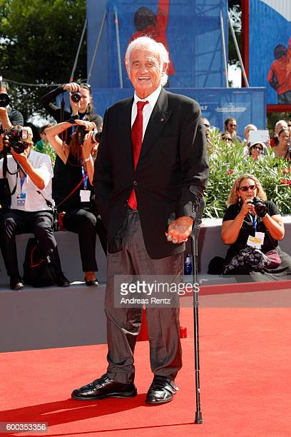 Jean Paul Belmondo attends the Golden Lion For Jean Paul Belmondo followed by the 'Le Voleur' Premiere during the 73rd Venice Film Festival at Sala...