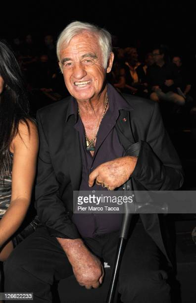 Jean Paul Belmondo attends the Roberto Cavalli Spring/Summer 2012 fashion show as part Milan Womenswear Fashion Week on September 26 2011 in Milan...