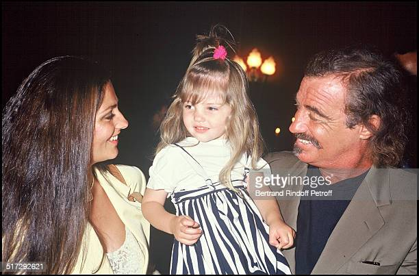"Jean Paul Belmondo, daughter Florence, and grand daughter at the last of the play ""Cyrano De Bergerac""."