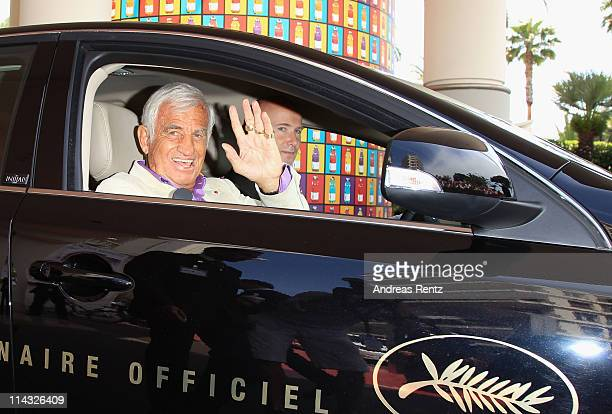 Jean Paul Belmondo sighted at the Martinez Hotel during the 64th Annual Cannes Film Festival at the Martinez Hotel on May 18 2011 in Cannes France