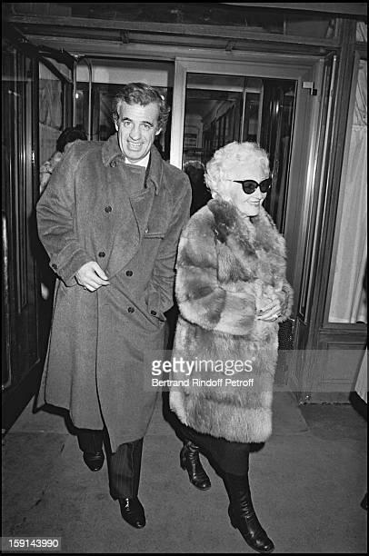 Jean Paul Belmondo with his mother