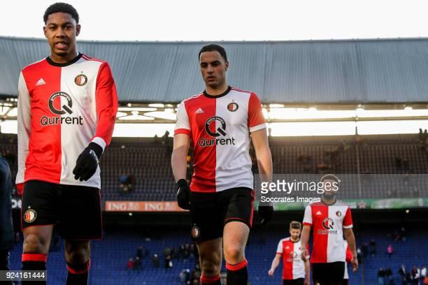 Jean Paul Boetius of Feyenoord Sofyan Amrabat of Feyenoord Tonny Vilhena of Feyenoord disappointed after the game during the Dutch Eredivisie match...