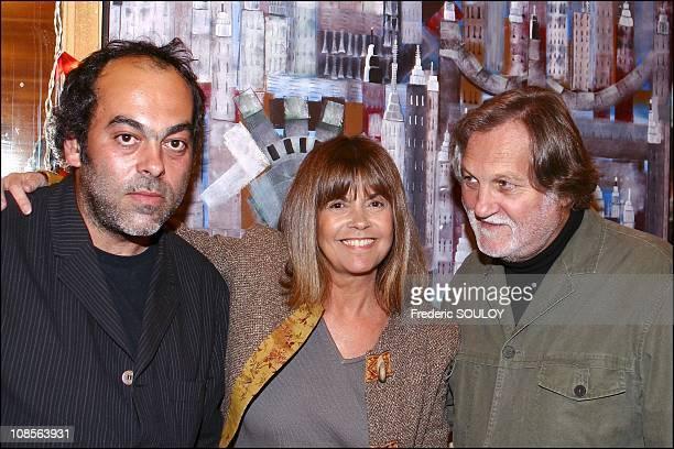 Jean Paul Debout Chantal Goya Jean Jacques Debout in Paris France on April 29th 2004
