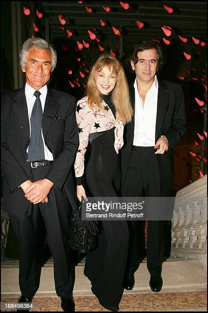 Jean Paul Enthoven Arielle Dombasle and Bernard Henri Levy at Private Viewing Of The Exhibition Where Are We Going In Venice