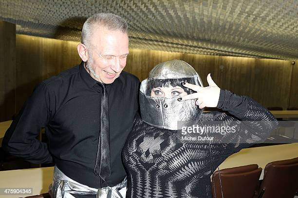 Jean Paul Gaultier and Beth Ditto pose after the Jean Paul Gaultier show as part of the Paris Fashion Week Womenswear Fall/Winter 20142015 on March 1...