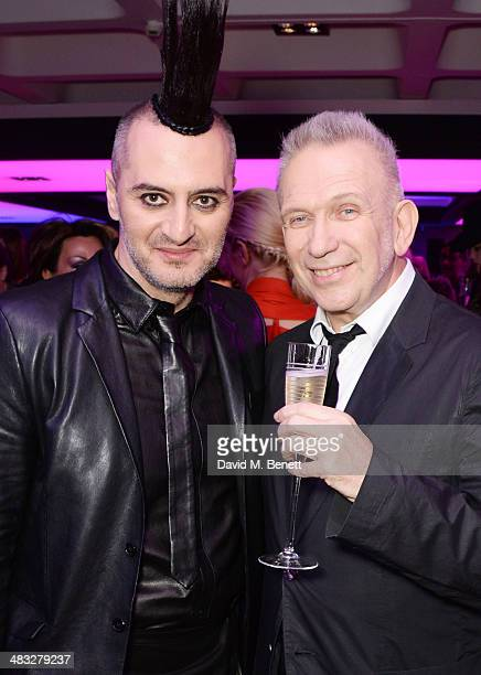 Jean Paul Gaultier and guest attend an exclusive reception for 'The Fashion World of Jean Paul Gaultier From the Sidewalk to the Catwalk' showing at...