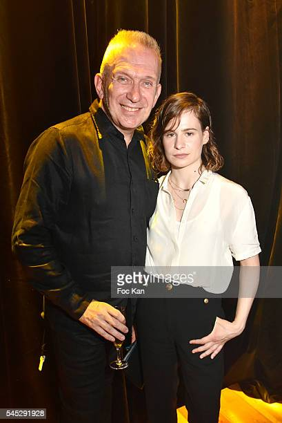 Jean Paul Gaultier and Heloise Letissier from Christine and the Queen band attend the JeanPaul Gaultier Haute Couture Fall/Winter 20162017 show as...