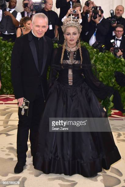 Jean Paul Gaultier and Madonna attends the Heavenly Bodies Fashion The Catholic Imagination Costume Institute Gala at The Metropolitan Museum of Art...