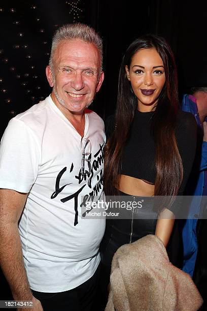 Jean Paul gaultier and Nabilla Benattia attend Jean Paul Gaultier show as part of the Paris Fashion Week Womenswear Spring/Summer 2014 on September...