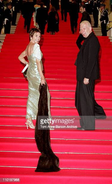 Jean Paul Gaultier and Victoria Abril during 2004 Cannes Film Festival Opening Night Dinner at Man Ray House in Cannes France