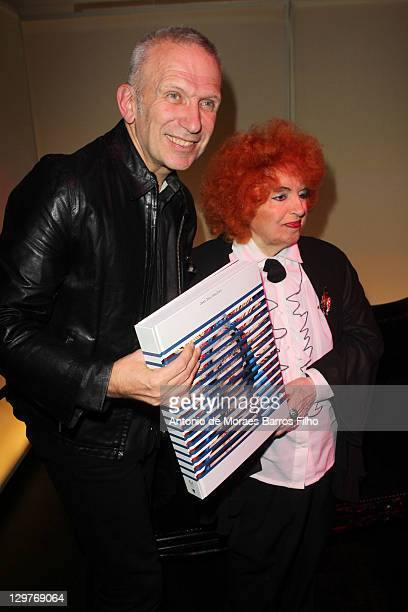Jean Paul Gaultier and Yvette Horner at the 'De La rue Aux Etoiles' Book Launch on October 20 2011 in Paris France