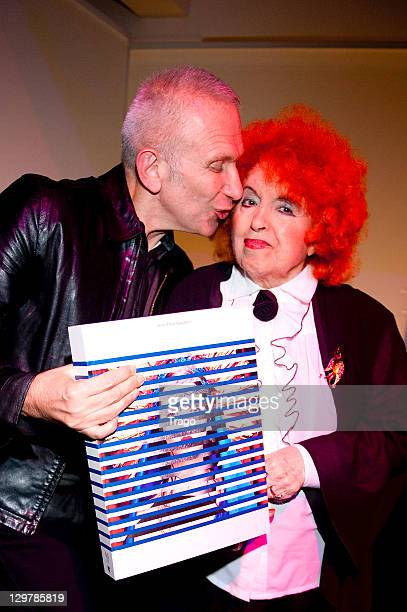 Jean Paul Gaultier and Yvette Horner attend 'De La rue Aux Etoiles' Book Launch at JeanPaul Gaultier's on October 20 2011 in Paris France