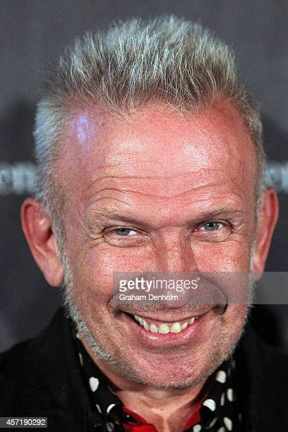 Jean Paul Gaultier arrives at The Fashion World of Jean Paul Gaultier Exclusive Preview at NGV International on October 14 2014 in Melbourne Australia