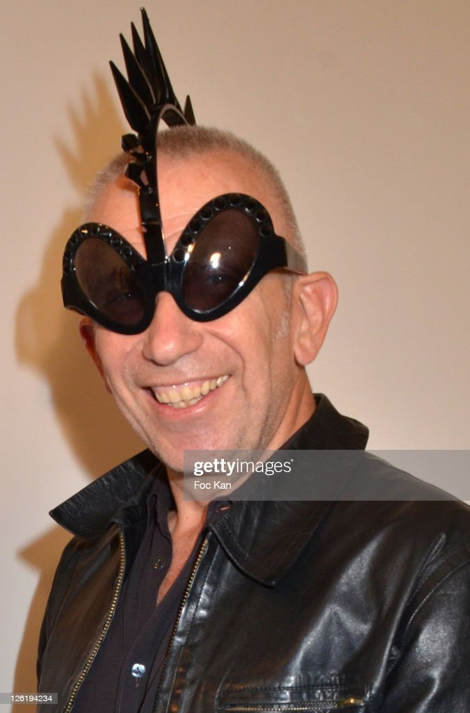 Jean Paul Gaultier attends the Jean-Paul Gaultier Eyeglasses by Mikli Launch Cocktail at Mikli Flagship Store St Peres on September 22, 2011 Paris, France.