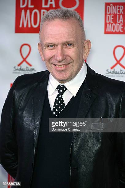 Jean Paul Gaultier attends the Sidaction Gala Dinner 2016 as part of Paris Fashion Week on January 28 2016 in Paris France