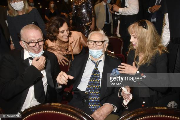 Jean Paul Gaultier, Ines de La Fressange, Pierre Cardin and Arielle Dombasle attend House of Cardin at Chatelet Theatre on September 21, in Paris,...