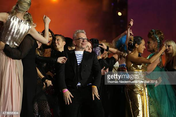 Jean Paul Gaultier on stage the Life Ball 2015 show at City Hall on May 16 2015 in Vienna Austria