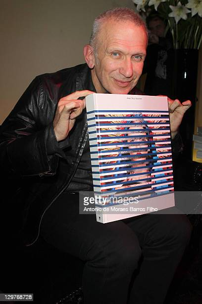 "Jean Paul Gaultier presents his book during the ""De La rue Aux Etoiles"" book launch on October 20, 2011 in Paris, France."