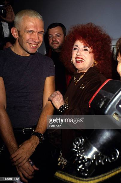 Jean Paul Gaultier Yvette Horner during Jean Paul Gaultier Party at Theatre des Champs Elysees in Paris France