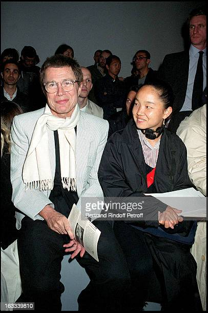 Jean Paul Goude and his wife Karen people fashion show Christian Dior man ready to wear spring summer 2003 in Paris