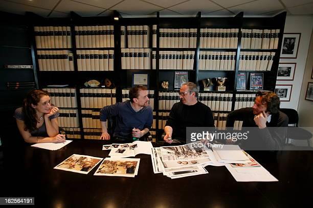 Jean Paul Rouve In Paris Match JeanPaul ROUVE à la rédaction de 'Paris Match' à l'occasion de la sortie de son film 'SANS ARME NI HAINE NI VIOLENCE'...