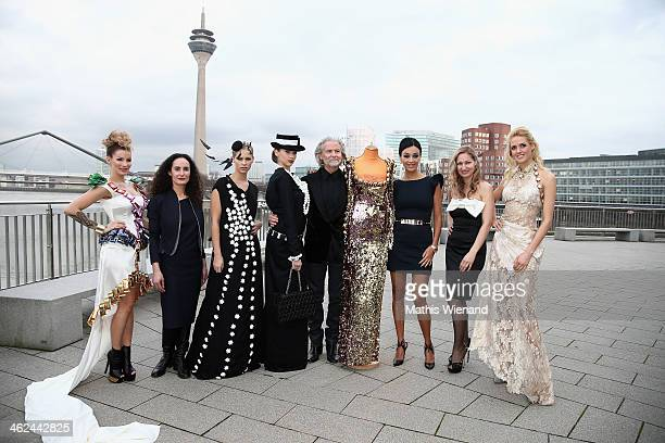 Jean Pearl Aicha Gerards Caroline Noeding A ModelHermann Buehlbecker Verona Pooth Ruth Heinen and Wilma Elles attend the Lambertz Monday Night...