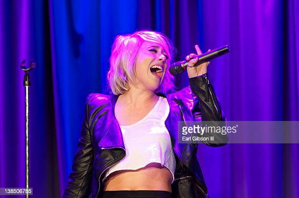 Jean performs at The GRAMMY Museum on February 7 2012 in Los Angeles California