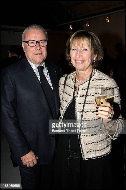 Jean Philippe and Evelyne Richard at Jean-Jacques Picart Awarded With The Insignia Of Knight In The Arts And Letters Order In Paris.