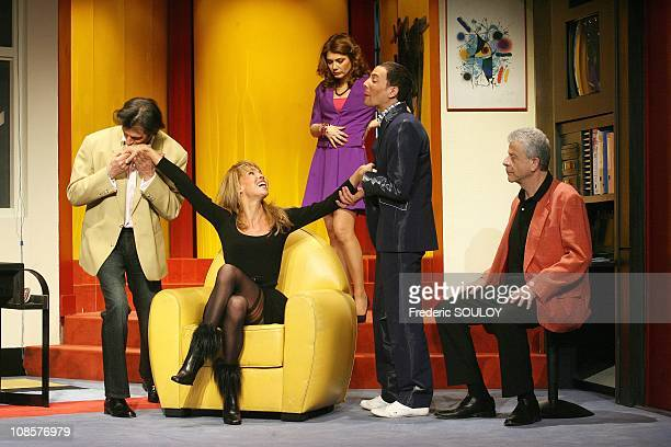 Jean Philippe Beche, Indra, Juliette Meyniac, Steevy Boulay and Georges Beller in Paris, France on January 8 2009