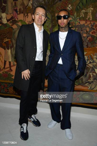 Jean Philippe Hecquet and Tyga attend the Lanvin show as part of the Paris Fashion Week Womenswear Fall/Winter 2020/2021 on February 26 2020 in Paris...