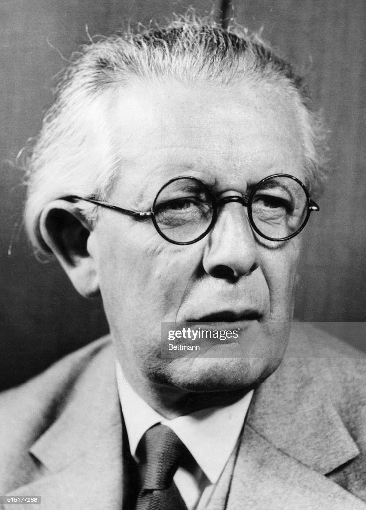 Jean Piaget, Swiss Psychologist : News Photo