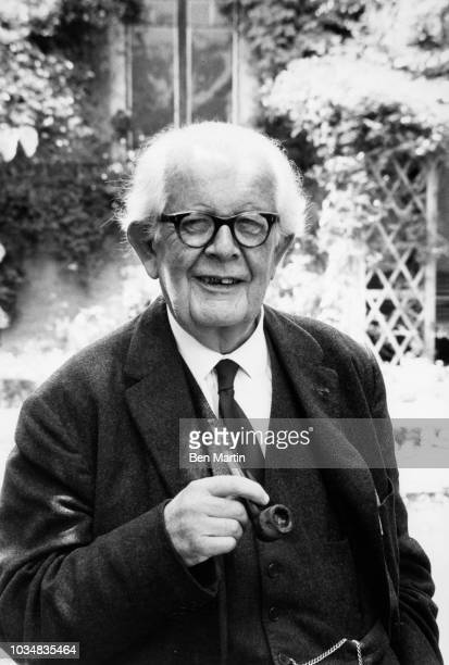 Jean Piaget Swiss psychologist known for his work in child development in the garden of his Geneva home July 5th 1969