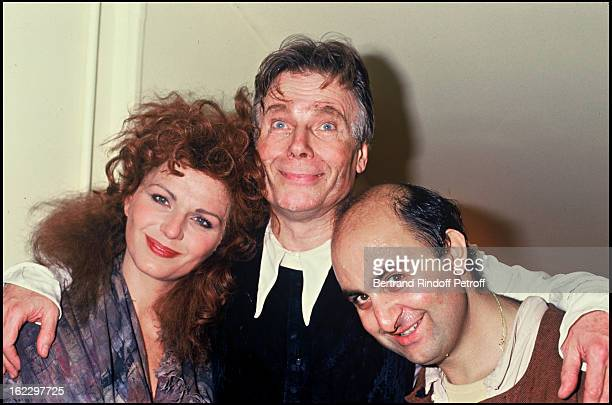 Jean Piat with Jeane Manson and Richard Taxy at L'Homme de La Mancha opening Night Theatre Marigny 1988