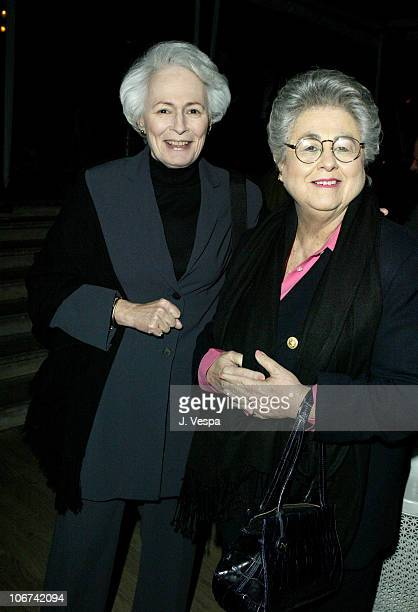 Jean Picker Firstenberg AFI and Roz Wyman during Ian Schrager's Mondrian Hosts New Market's PreOscar Party with Charlize Theron and Keisha...