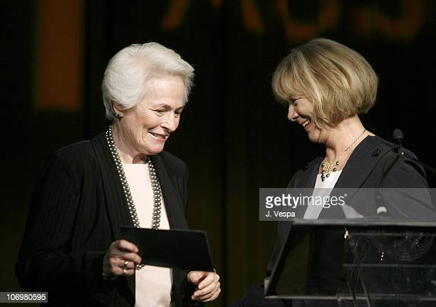 Jean Picker Firstenberg CEO of the American Film Institute and Carol Mitchell AFI Associates President