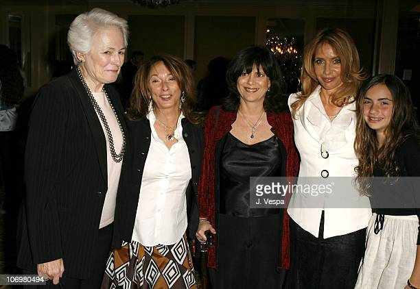 Jean Picker Firstenberg CEO of the American Film Institute Lynda Obst Cathleen Leslie Event CoChair Rosanna Arquette and daughter Zoe Sidel