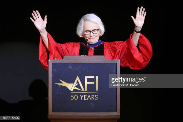 Jean Picker Firstenberg speaks during AFI's Conservatory Commencement Ceremony at the TCL Chinese Theatre on June 5 2017 in Hollywood California
