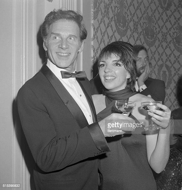 Jean Pierre Aumont, French singer with Liza Minnelli after she opened at the Empire Room of the Waldorf Astoria.