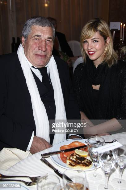 Jean Pierre Castaldi and Eleonore Boccara attend 'The Best' at The Pavillon Dauphine Restaurant in Paris France on December 11 2011