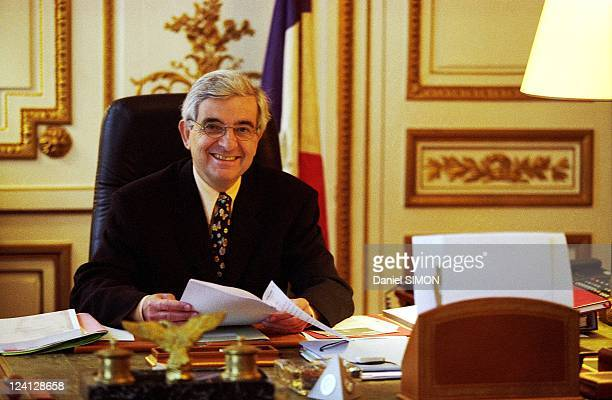 Jean Pierre Chevenement in his office at Ministry of the Interior In Paris France On January 04 1999