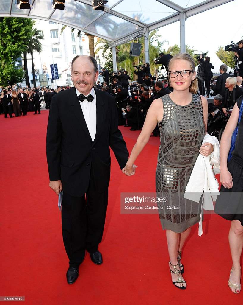 Jean Pierre Darroussin and a guest attend the premiere for 'The Exodus - Burnt By The Sun 2' during the 63rd Cannes International Film Festival.