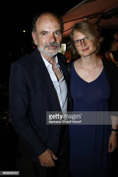 Jean Pierre Darroussin and his wife Anna Novion attend the Dinner of 'La Nuit des Molieres 2017' at la Closerie des Lilas on May 29 2017 in Paris...