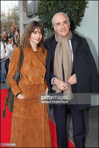 Jean Pierre Elkabach and his daughter Emmanuelle Bach at Premiere Of Film 'Comme Les 5 Doigts De La Main' At Cinema Publicis Champs Elysees In Paris