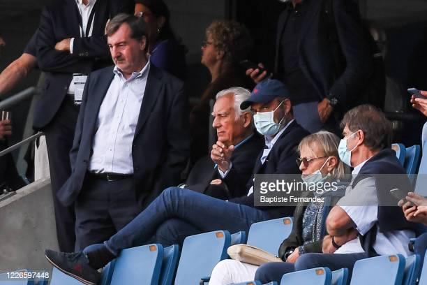 Edouard PHILIPPE mayor of Le Havre before the friendly match between HAC Le Havre and Paris Saint Germain at Stade Oceane on July 12 2020 in Le Havre...